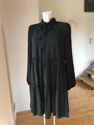 Steffen Schraut Flounce Dress black-white viscose