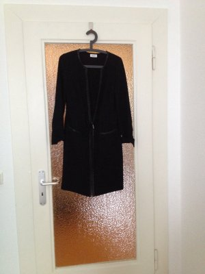 STEFFEN SCHRAUT schmales Kleid mit Lederoptikapplikation 36