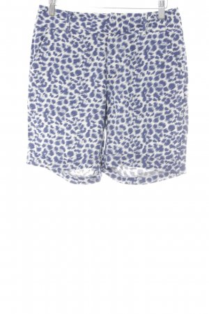 Steffen Schraut Shorts natural white-steel blue leopard pattern animal print