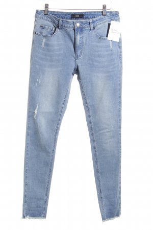 Steffen Schraut Skinny Jeans blau-himmelblau Destroy-Optik