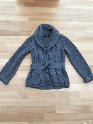 Steffen Schraut Coarse Knitted Jacket dark grey