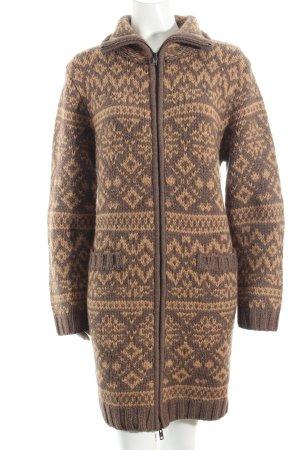 Steffen Schraut Knitted Coat light brown-grey brown wool