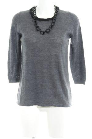 Steffen Schraut Maglione lavorato a maglia grigio ardesia stile casual