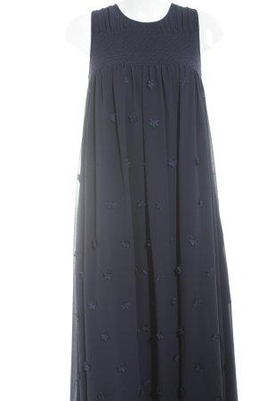 Steffen Schraut Trägerkleid dunkelblau florales Muster Elegant
