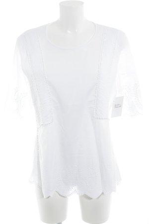 Steffen Schraut Blusa a tunica bianco stile romantico