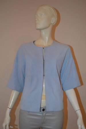 Steffen Schraut Leather Jacket pale blue leather