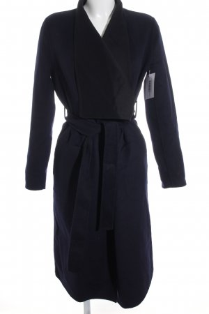 Steffen Schraut Wintermantel dunkelblau-schwarz minimalistischer Stil