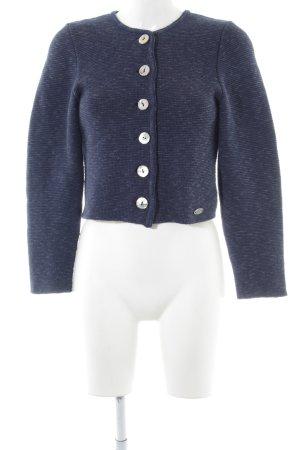Steffner Trachtenjacke neonblau-weiß Casual-Look