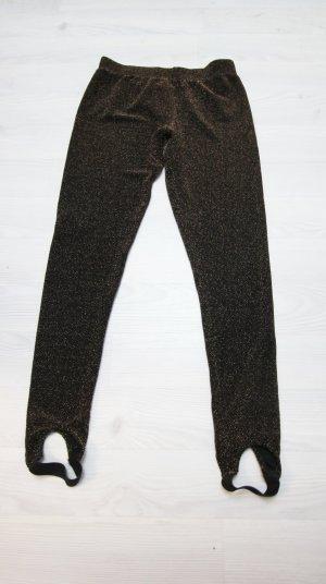 Vastgebonden broek zwart-brons