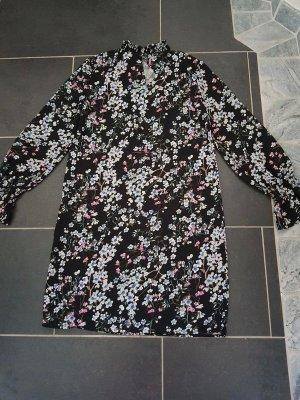 Stehkragen Kleid Langarm Leicht Pieces Gr. S (36) NEU casual Büro