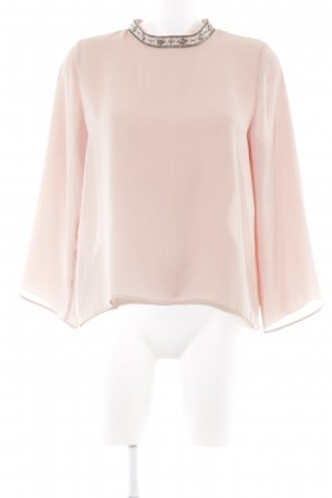 Stand-Up Collar Blouse apricot elegant