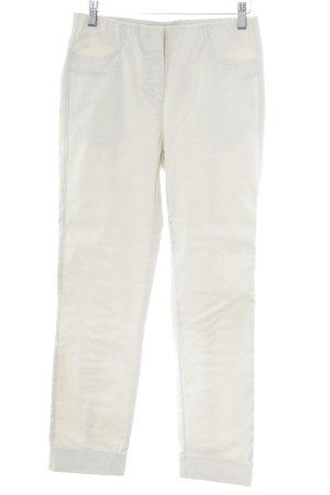 Stehmann Pantalón elástico blanco-blanco puro look casual
