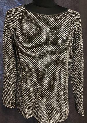 Zara Maglione lavorato a maglia bianco sporco-nero