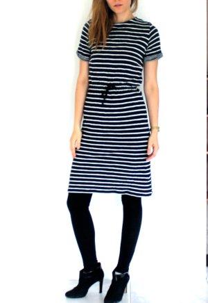 Steifenkleid Hess Natur - Kleid mit Streifen Rund Strick  - French CHic