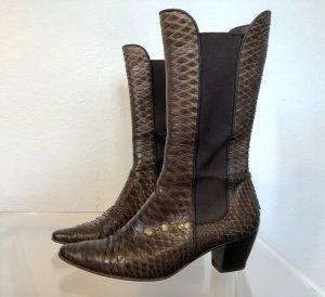 Walter Steiger Slip-on Booties brown-cognac-coloured