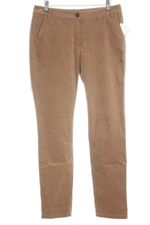 Steilmann Pantalone di velluto a coste marrone chiaro stile casual