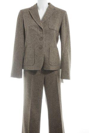 Steilmann Damespak grijs-bruin gestippeld zakelijke stijl