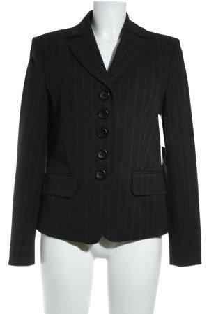 Steilmann Kurz-Blazer schwarz-grau Nadelstreifen Business-Look