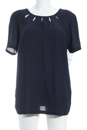 Steilmann Kurzarm-Bluse dunkelblau Elegant