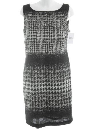 Steilmann Kurzarmkleid schwarz-weiß abstraktes Muster