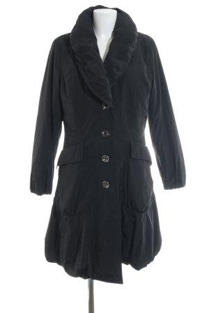Steilmann Lange Jacke schwarz-violett Casual-Look