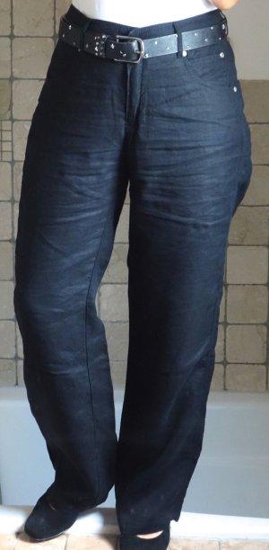 Steilmann Pantalón de lino negro Lino