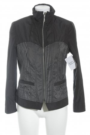 Steilmann Veste d'extérieur noir-gris anthracite motif rayé