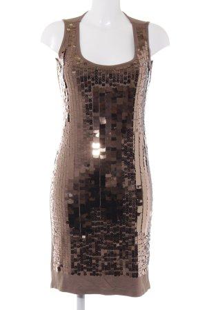 Steilmann Pailettenkleid hellbraun-bronzefarben extravaganter Stil
