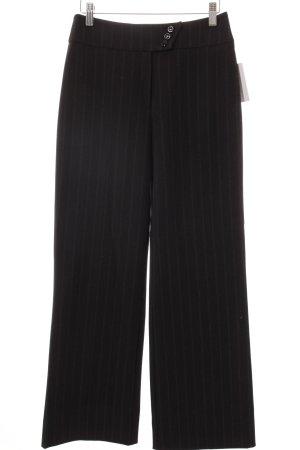 Steilmann Stoffhose schwarz-grau Nadelstreifen Business-Look