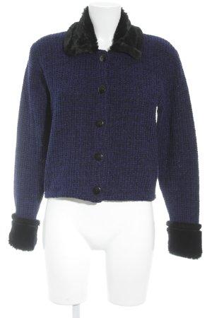 Steilmann Strickjacke schwarz-dunkelblau meliert Elegant