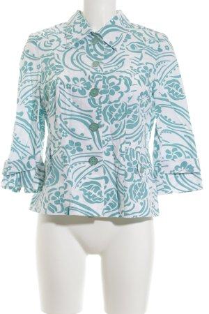 Steilmann Sweatblazer weiß-türkis abstraktes Muster Street-Fashion-Look