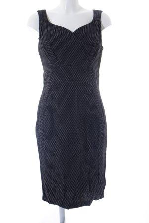 Steilmann Trägerkleid weiß-schwarz Punktemuster Rockabilly-Look