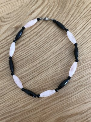 Collier Necklace black-pink