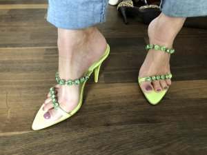 Vero Cuoio High Heel Sandal meadow green