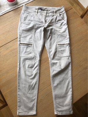 Laurèl Pantalone cargo grigio chiaro