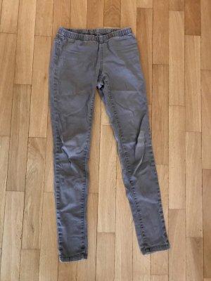 Steingraue Jeansleggings, Gr 34, zaubert top Figur