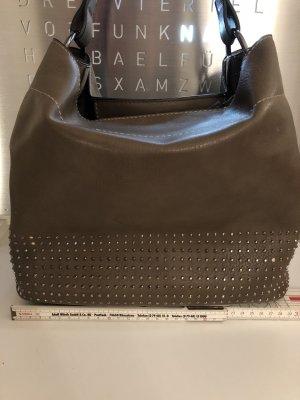 Steingraue Tasche mit Steinchen