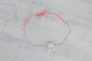 stella&dot Armband Wiesn Oktoberfest Lederhose silber rosa pink NEU