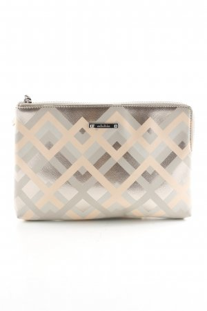 Stella & Dot Clutch creme-hellgrau grafisches Muster Casual-Look