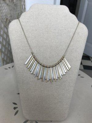 Stella & Dot Necklace silver-colored-gold-colored
