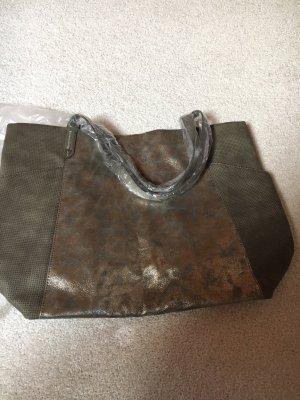 Stella&dot Handtasche Silber Shopper Glanz Neu