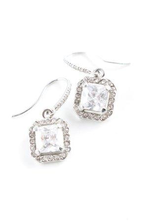 Stella & Dot Bungeloorbellen zilver glitter-achtig
