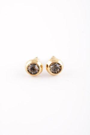 Stella & Dot Zarcillo color oro-marrón estilo «business»
