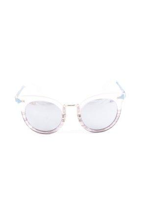 Stella & Dot ovale Sonnenbrille blasslila-kadettblau Farbverlauf