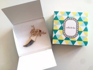 Stella & Dot Split Stone Halskette gold Neu und ungetragen