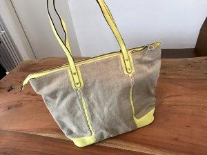 """Stella & Dot """"The Classic"""" Handtasche beige/gelb"""