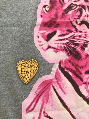 Stella Mc Cartney T-Shirt Tiger Pink