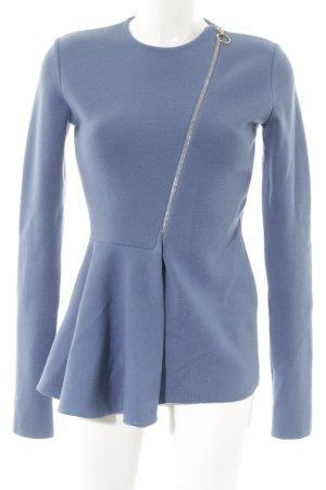 Stella McCartney Long-Blazer stahlblau Street-Fashion-Look
