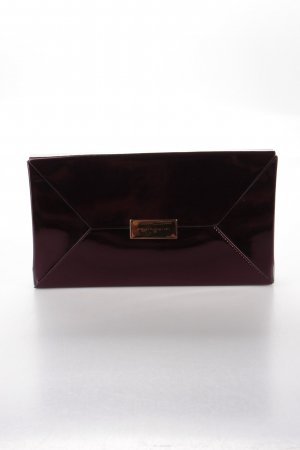 Stella McCartney Beckett Envelope Clutch Bordeaux Metallic