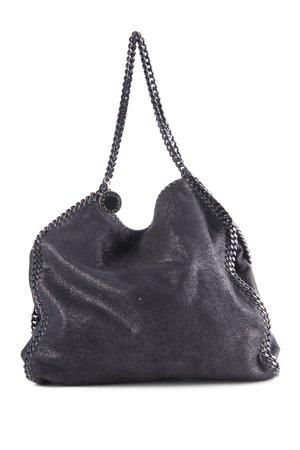 Stella McCartney Beuteltasche schwarz-silberfarben Elegant
